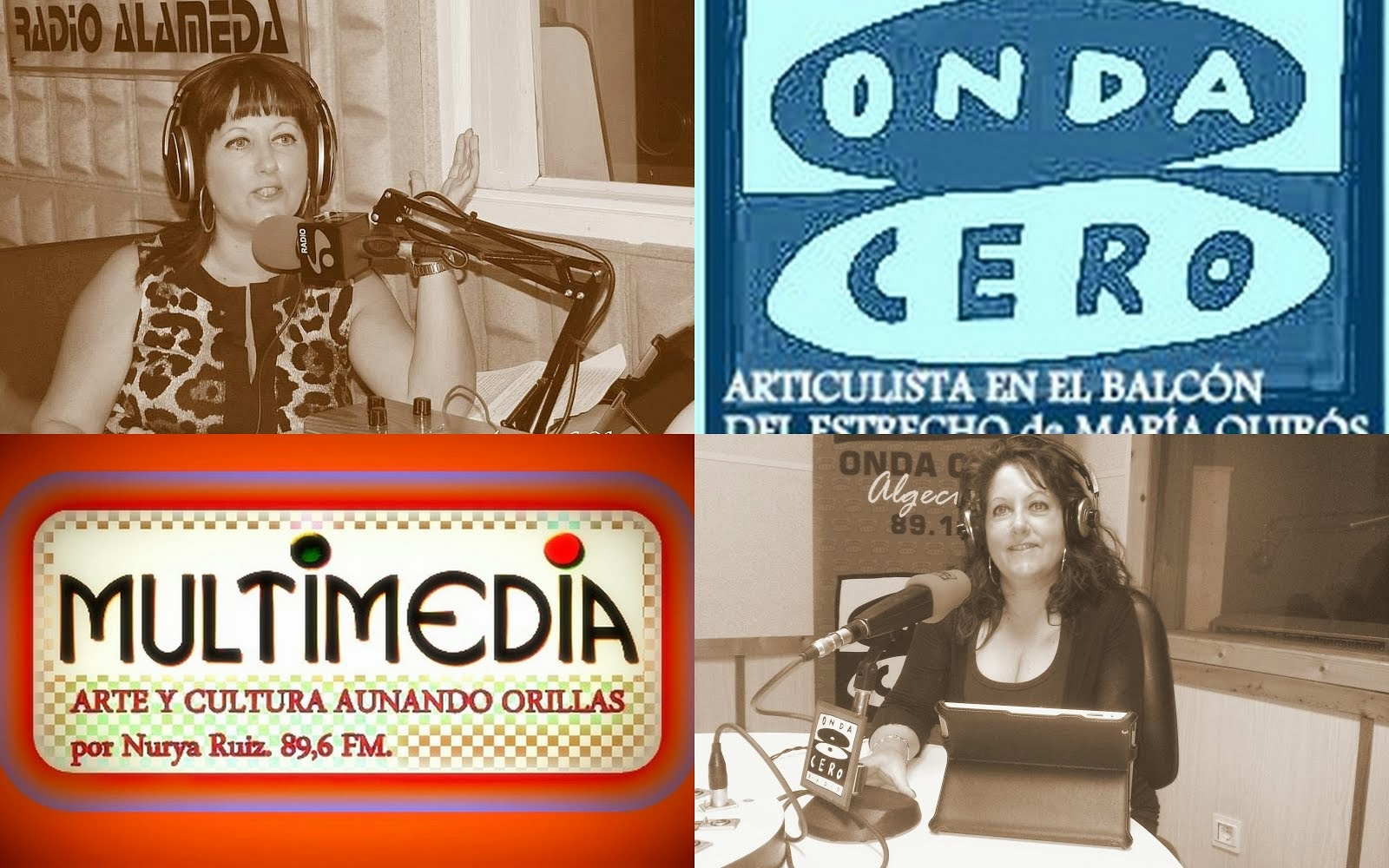Programa de radio Multimedia y colaboración en otras emisoras como Onda Cero Algeciras.