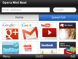 Tombol Cepat OpMin Opera Mini 7 0 Next Java handler download