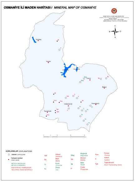 Osmaniye �li Maden Haritas�