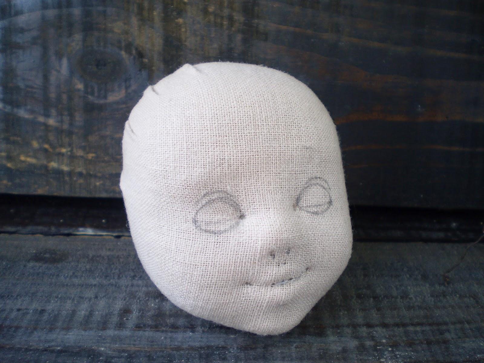 Лицо текстильной куклы мастер класс своими руками