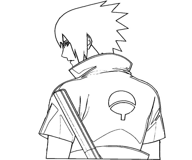 printable sasuke uchiha 7 coloring page