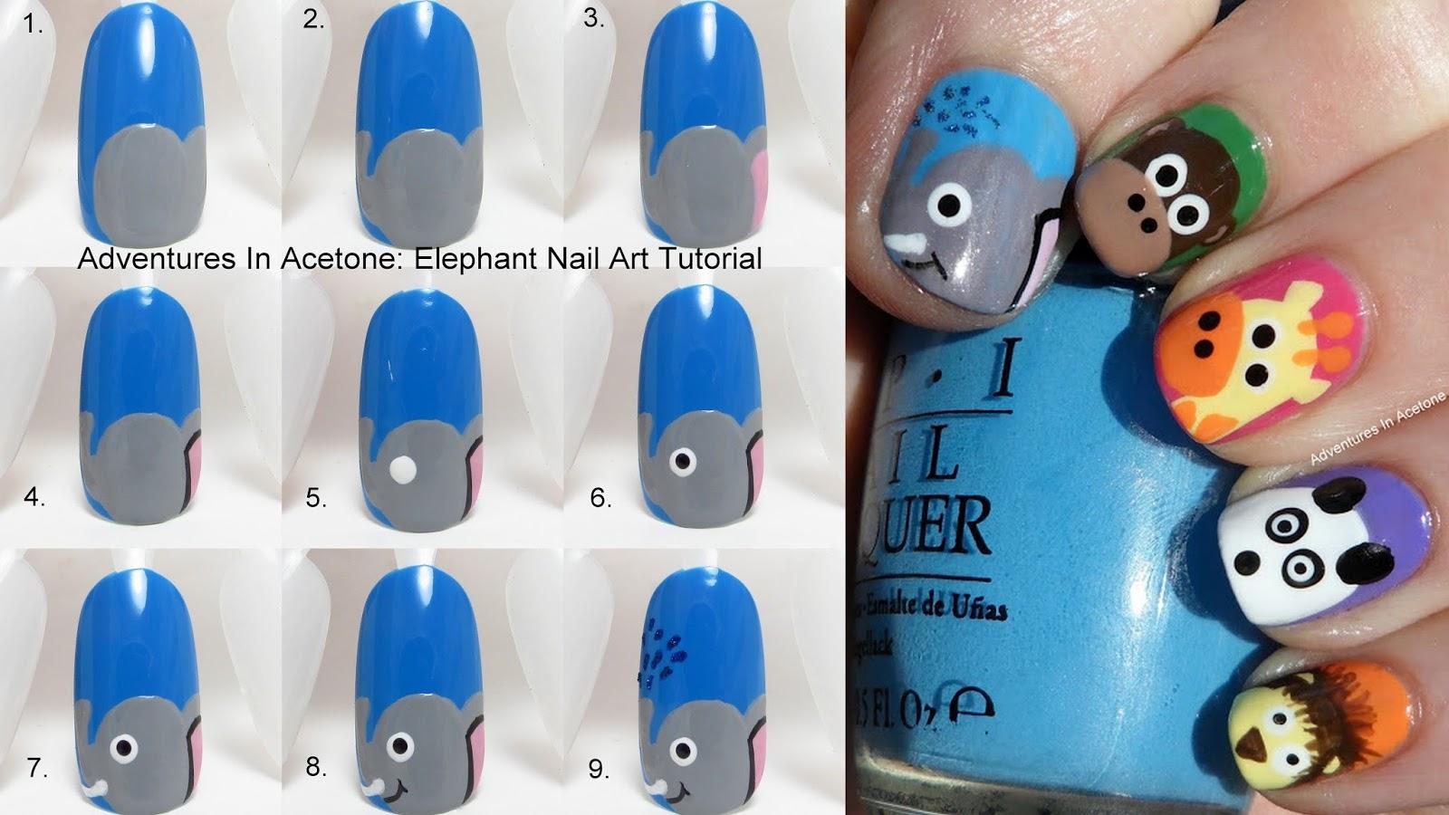 Elephant Nail Art Tutorial Best Nail Designs 2018