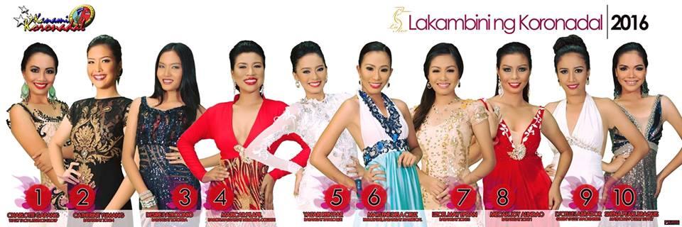 Lakambini ng Koronadal 2016 candidates revealed