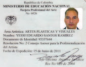 Tarjeta Profesional del Arte