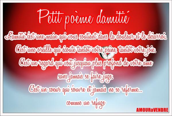 Berühmt Poèmes d'amitié - poème d'amitié forte - poème d'amitié triste  WE43