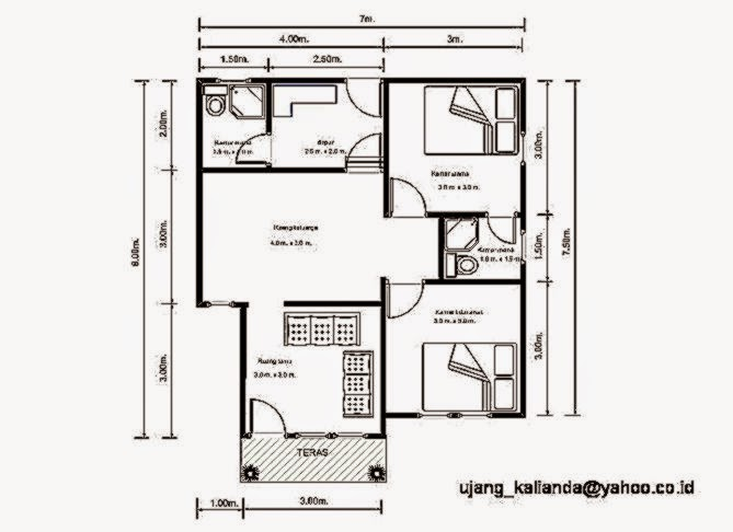 Gambar Denah Rumah Minimalis Sederhana  Gambar Rumah