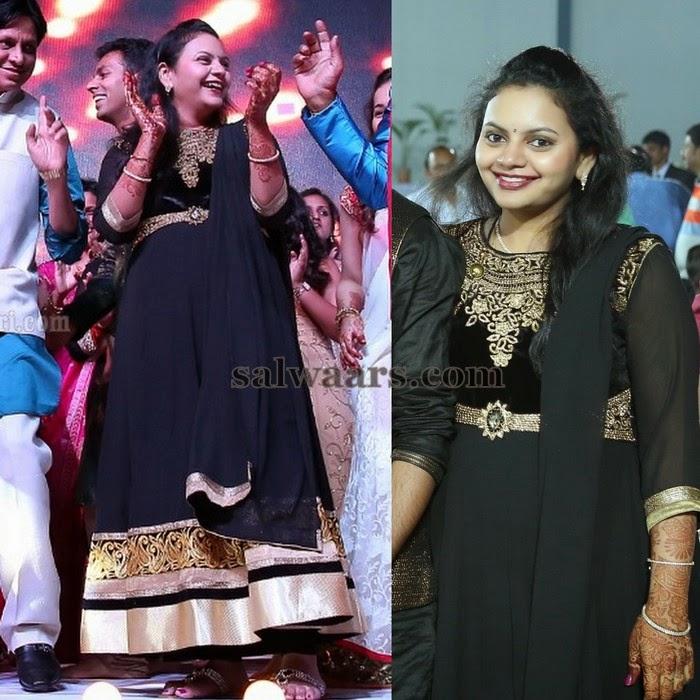 Sai Kumar Daughter Black Salwar