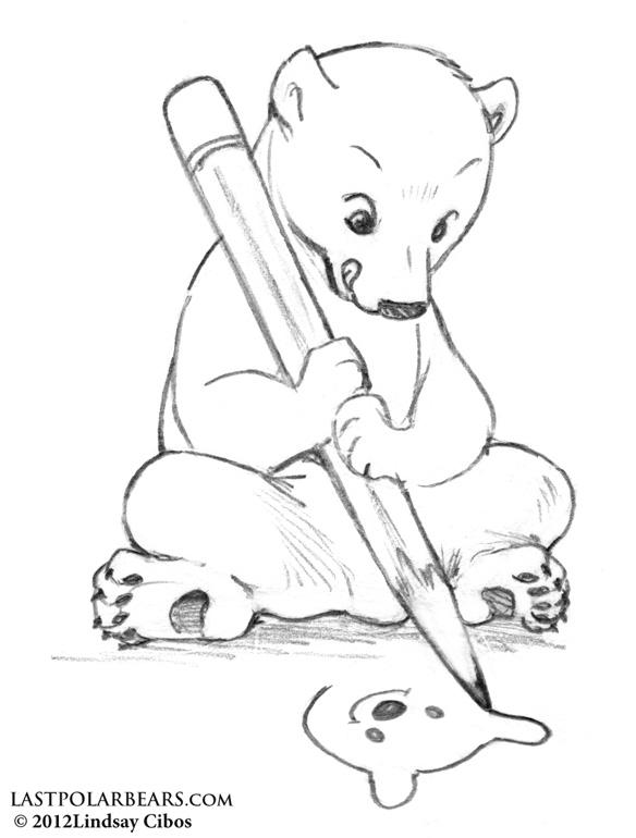 Cute polar bear drawings - photo#9