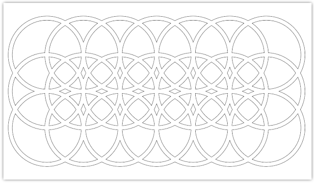 rectangle circles free hand embroidery pattern