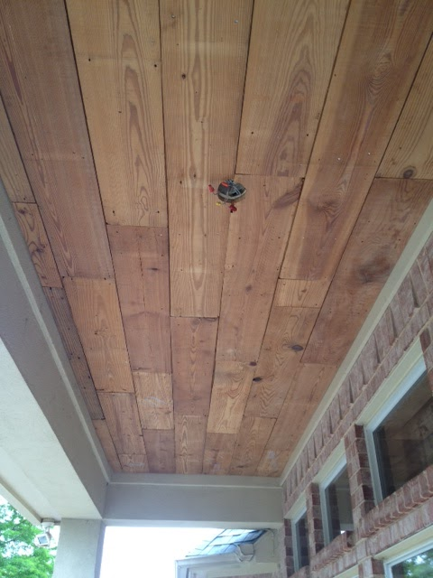 we decided to leave the wood - Reclaimed Wood Ceiling