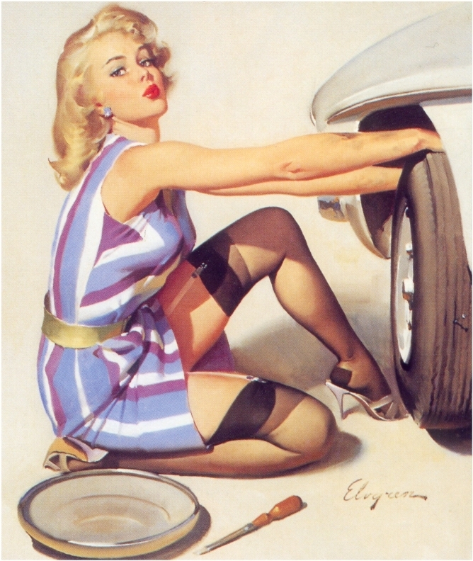Pin up girls clothed porn