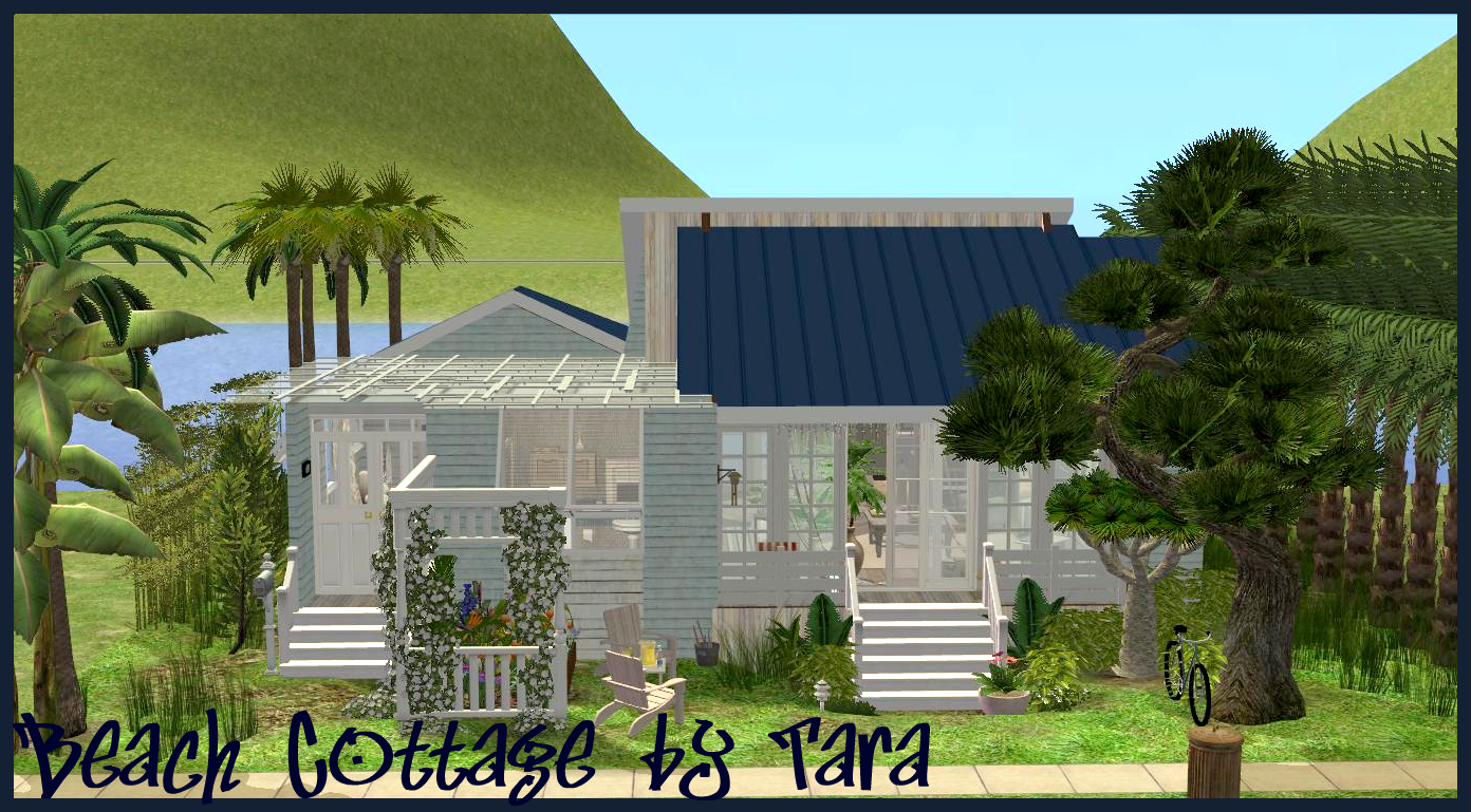 Sims 2 creations by tara beach cottage for Beach house 3 free download