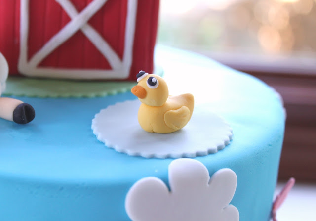 Fondant Duckie for Farm Theme Birthday Cake Minneapolis