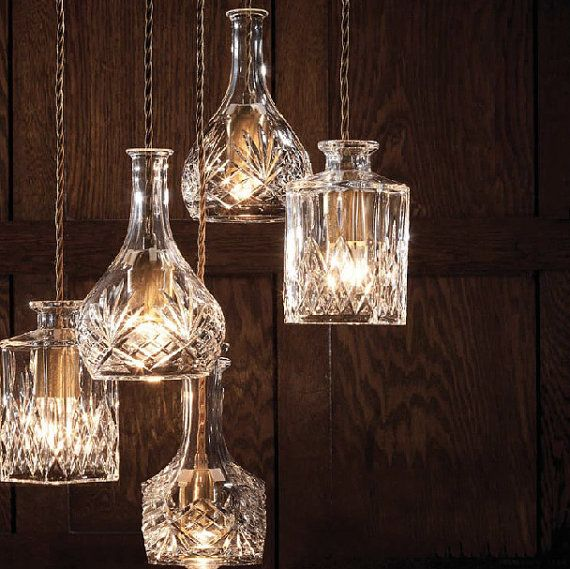 Wine decanter bottle pendant light chandelier