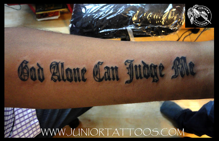 God Alone can judge me tattoo