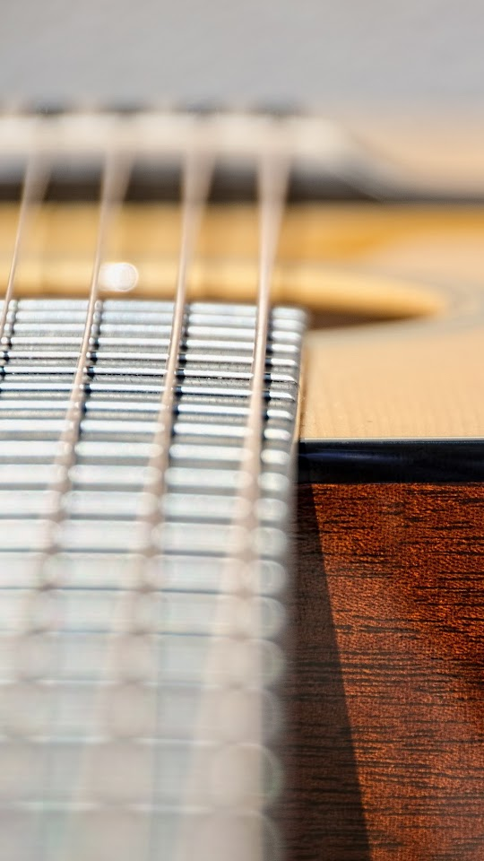 Guitar Strings Detail Close-up  Galaxy Note HD Wallpaper
