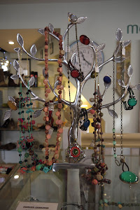 I brought this tree all the way from Australia - and doesn't it display our jewellery well?!