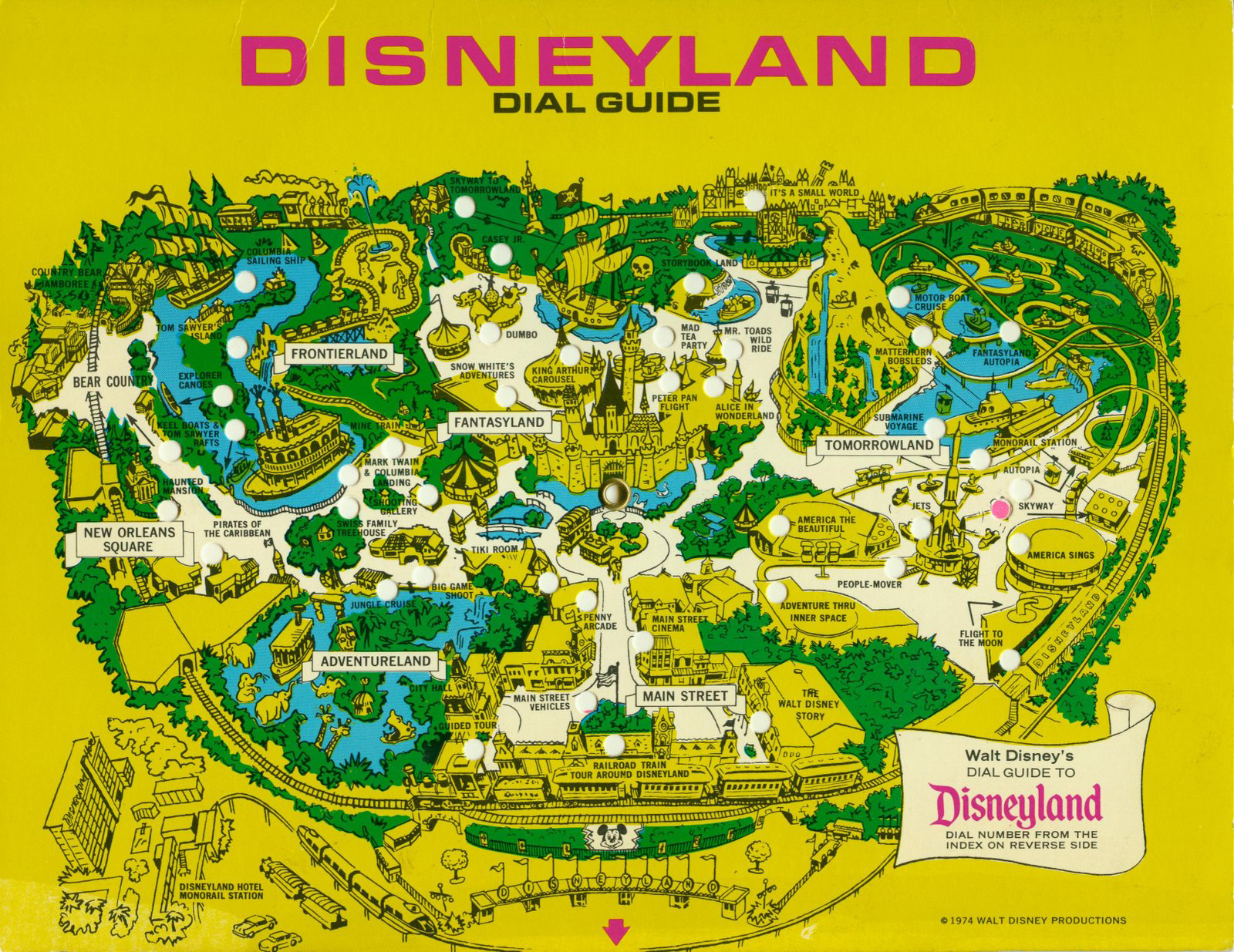 Insights and Sounds: 1976 Disneyland Dial Guide