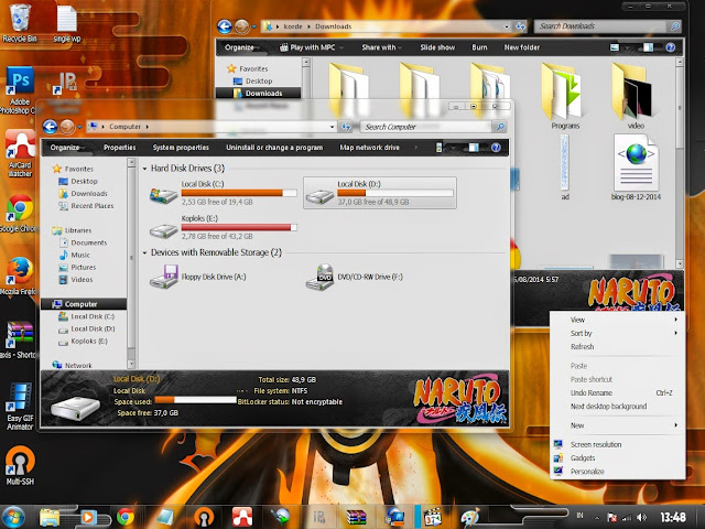 [ Theme WIn 7 ] Naruto 2