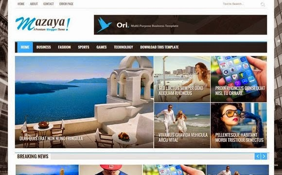 Mazaya Blogger Template