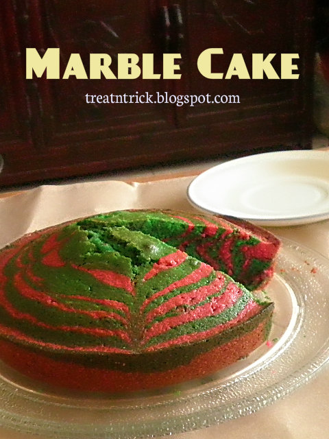 Marble Cake Recipe @ treatntrick.blogspot.com