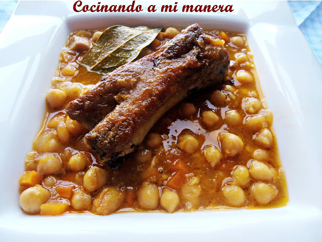 garbanzos costilla