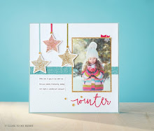 October Stamp of the Month Scrapbook Layout