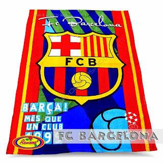 Jual Selimut Rosanna Soft Panel Blanket Manchester Fc Barcelona