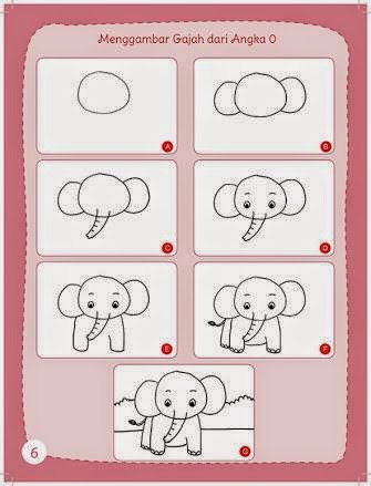 Learn to draw an elephant for kids