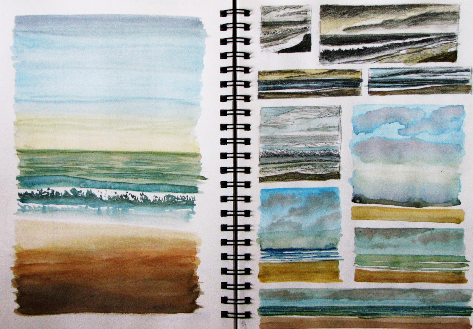 Sketchbook Pages on Mixing Colours