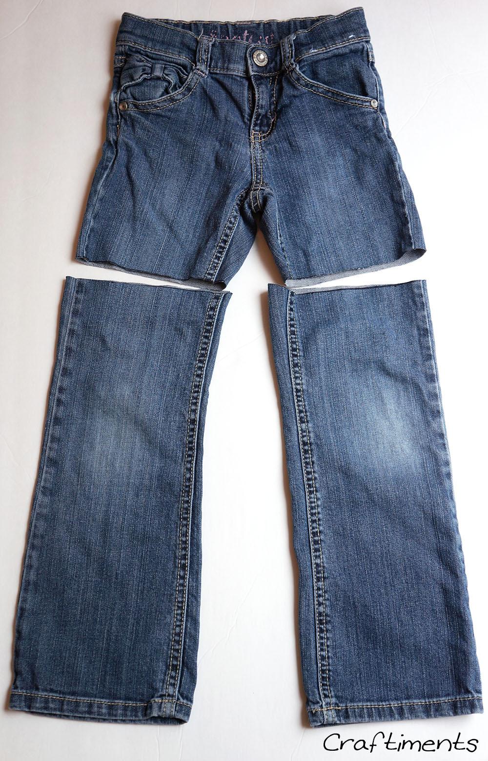 Cut jeans