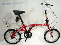 A 16 Inch DoesBike Convoy Folding Bike with Carrier