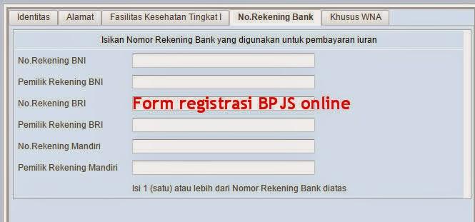 Form registrasi BPJS online