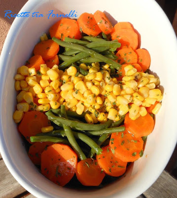 insalata di fagiolini carote e mais