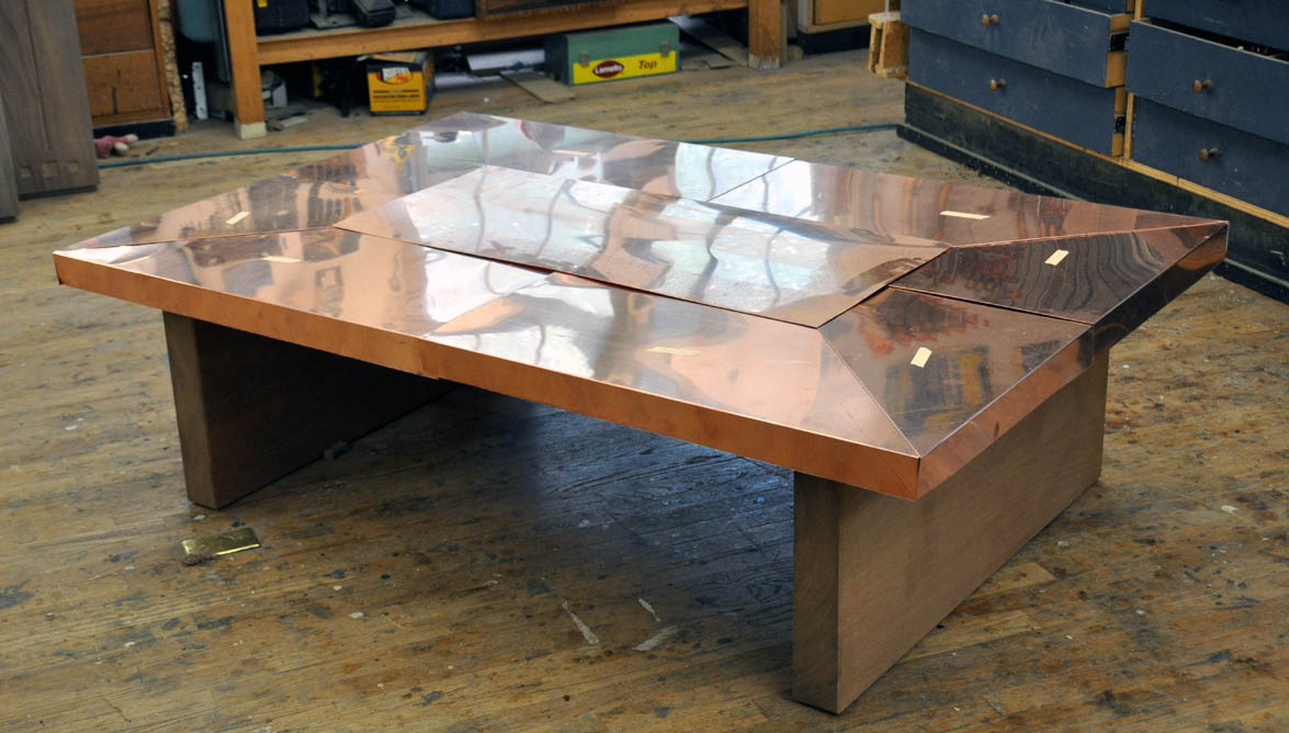 Dorset Custom Furniture A Woodworkers Photo Journal A Copper Top Coffee Table