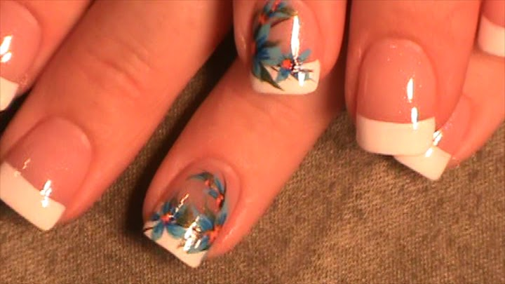 Robin moses nail art bamboo nails bamboo nail art maroon and bamboo nails bamboo nail art maroon and gold nail simple blue flower nail blue flower nail french nail with blue marigold nail prinsesfo Gallery