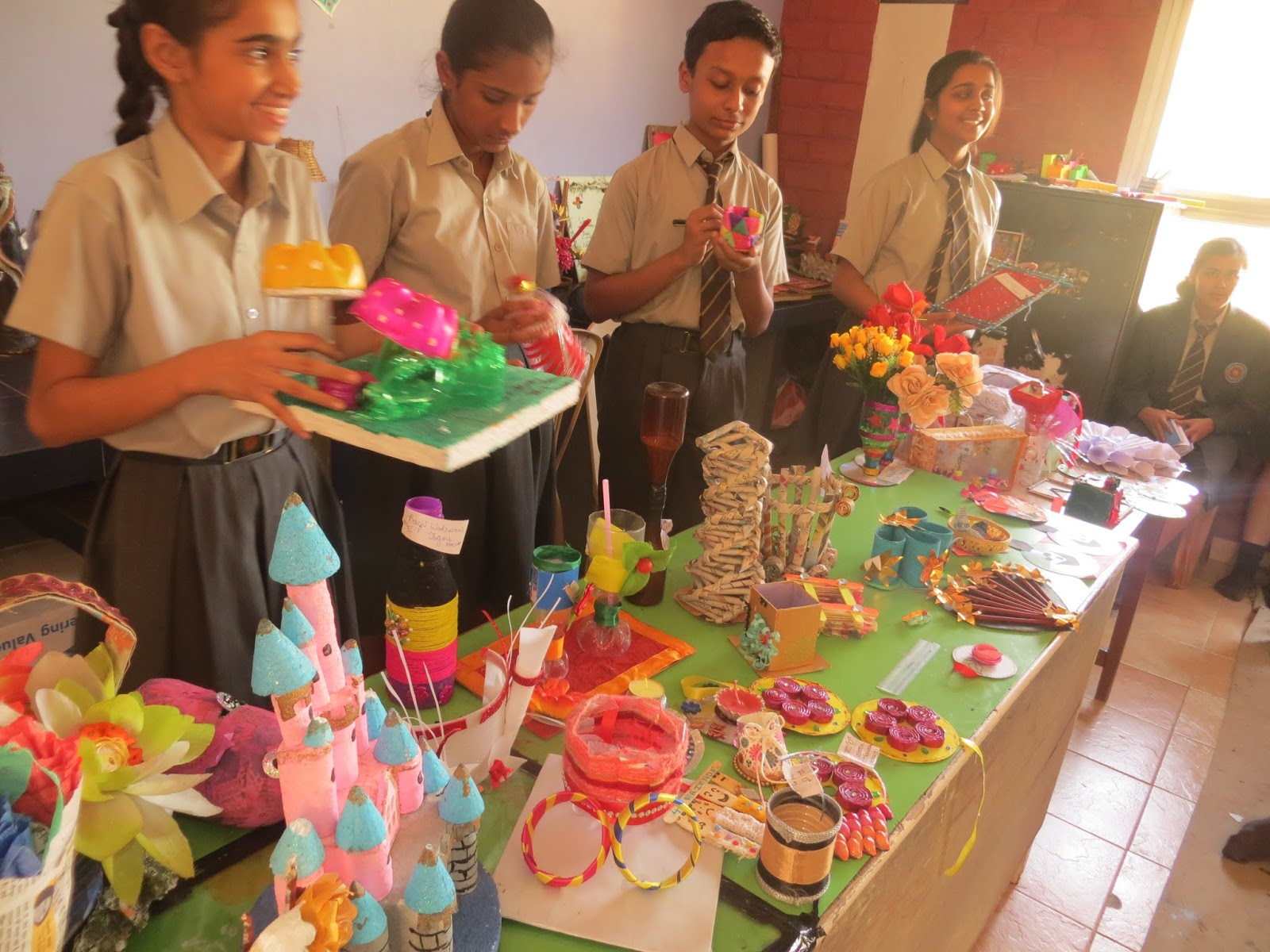 Inter house best out of waste event senior school for Showpiece from waste material