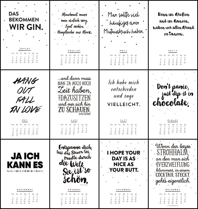 ann meer by anna maria dahmen printable kalender 2016. Black Bedroom Furniture Sets. Home Design Ideas