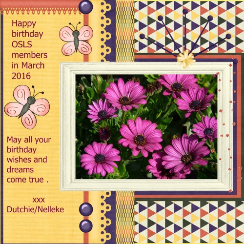 March 2016 - Happy birthday OSLS member