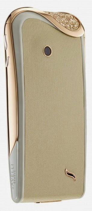 Smartphone de luxo para mulher em branco creme