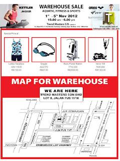 Aquatics, Fitness & Sports Warehouse Sale 2012