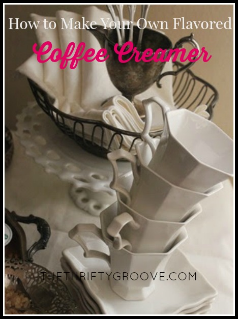 Thrifty and budget friendly recipe to make your own flavored coffee creamers