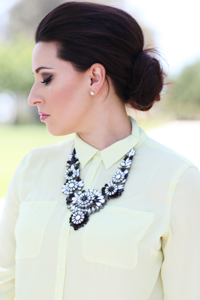 ysl-sheer-candy-tarte-blush-dollface-le-tote-black-and-white-statement-necklace-loft-neon-blouse-king-and-kind-blog