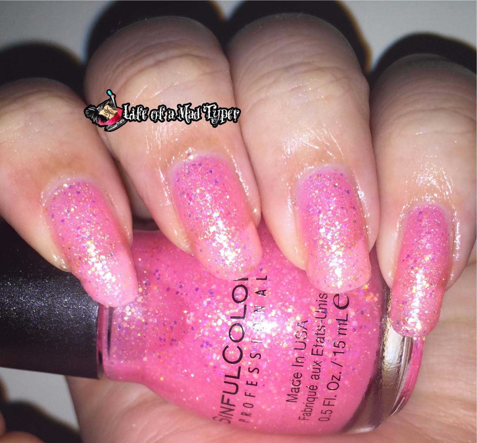 SinfulColors pinky glitter