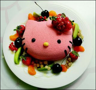 Hello Kitty marshmallow dessert