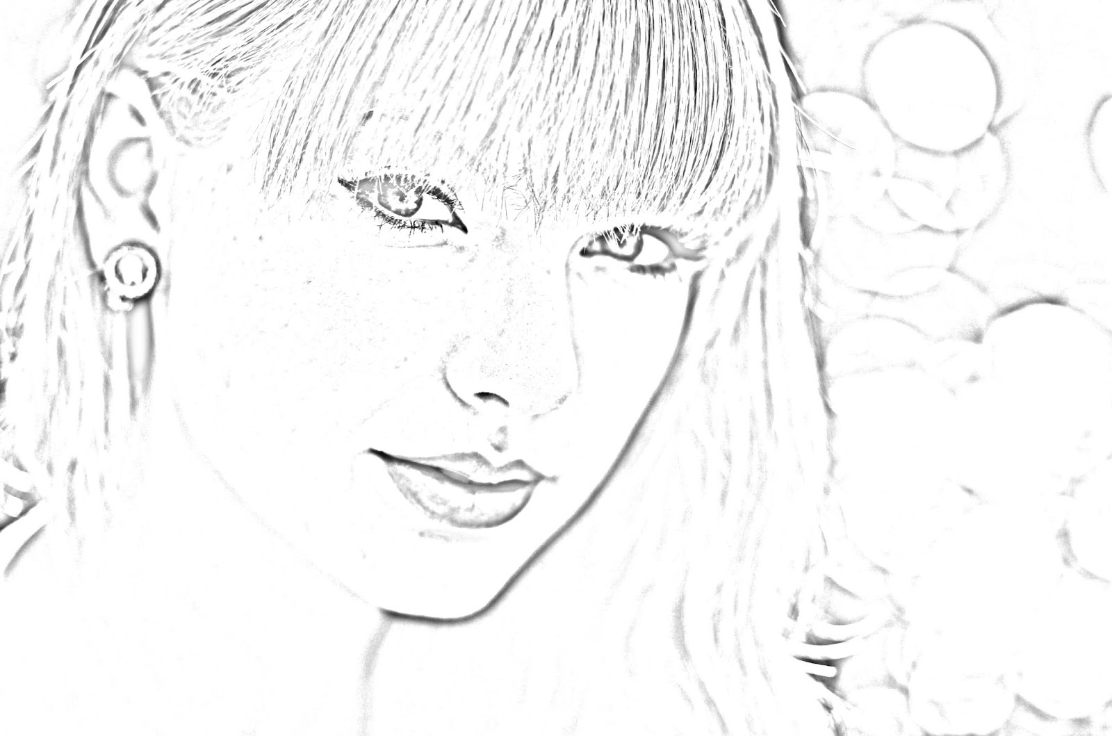 Taylor Swift Coloring PagesTaylor Swift Coloring Pages