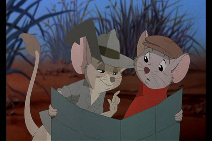 "Bernard Jack Disney movie ""The Rescuers Down Under"" 1990 animatedfilmreviews.blogspot.com"