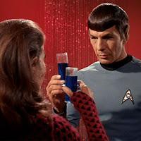Star Trek Spock (Leonard Nimoy) drinking Romulan Ale
