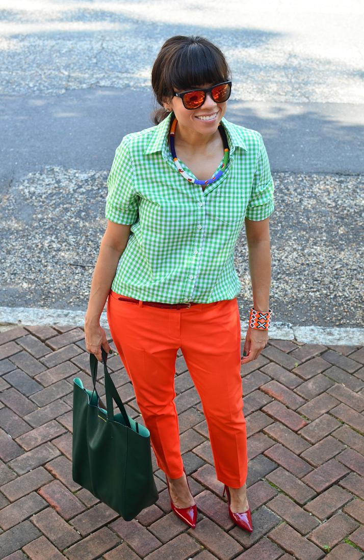 Gingham Shirt Street Style