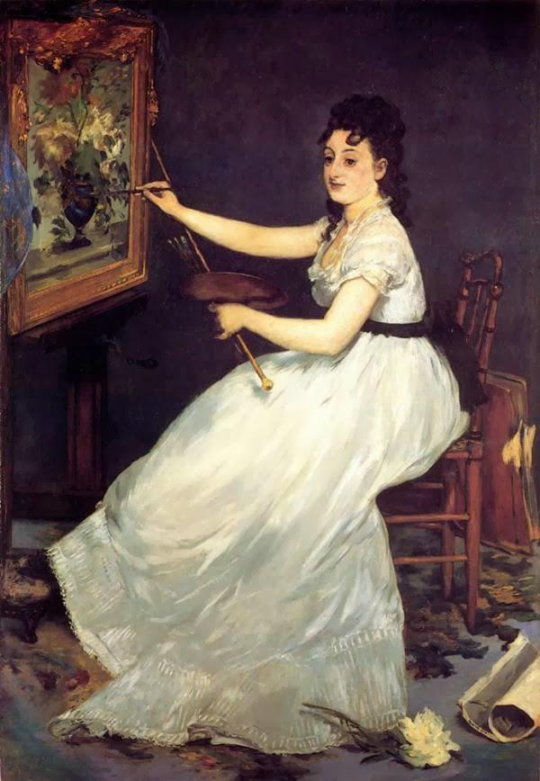 Édouard Manet ~ Portrait of Eva Gonzalès, 1869-1870